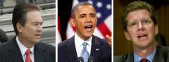 Vern Buchanan, Barack Obama and Shaun Donovan